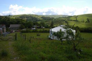 Blue yurt